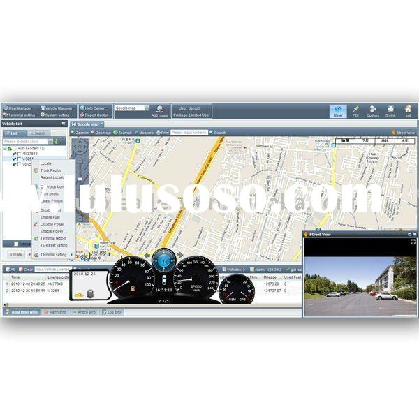 web based real time GPS GPRS tracking software