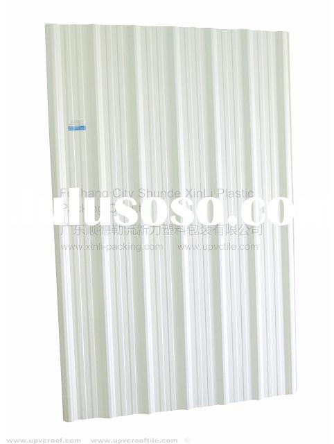 white Upvc roof tiles heat insulation panel for heat insulation roofing XLT-22