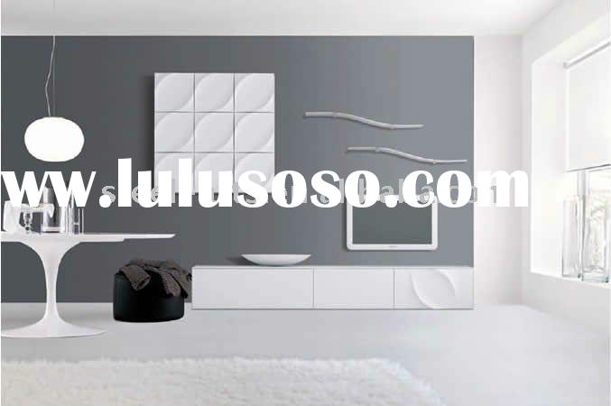 white high gloss MDF TV stand wall unit