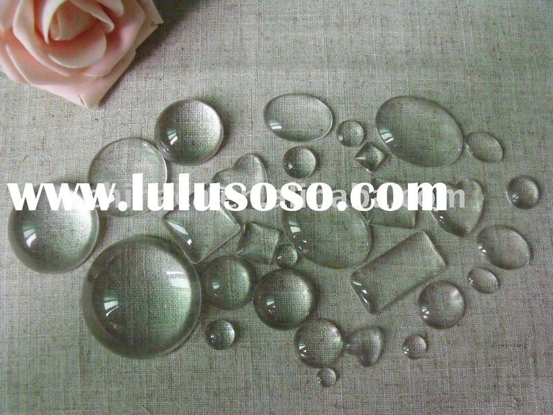 wholesale beautiful clear glass cabochons for fashion jewelry