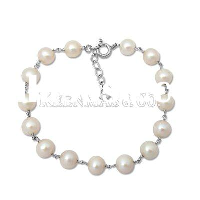wholesale silver jewelry, freshwater pearls bracelet/bangle jewellery,925sterling silver bracelet je