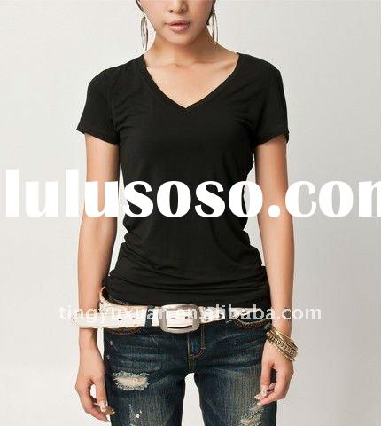 women's high quality custom-made, any color,any size, plain t shirt