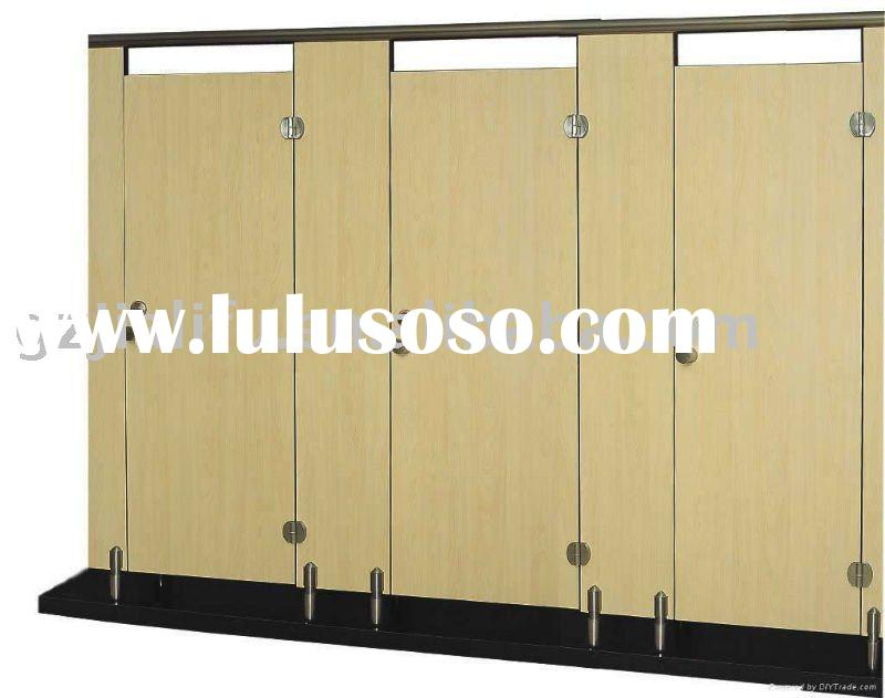 wood toilet partition (with stainless steel accessories)