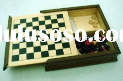 wooden chess box,checker,backgammon,playing card, wooden board game,wooden toy