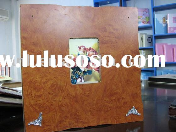wooden photo album box with wedding self-adhesive sheets