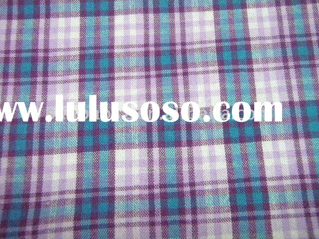 yarn dyed check 100% cotton for men's shirt