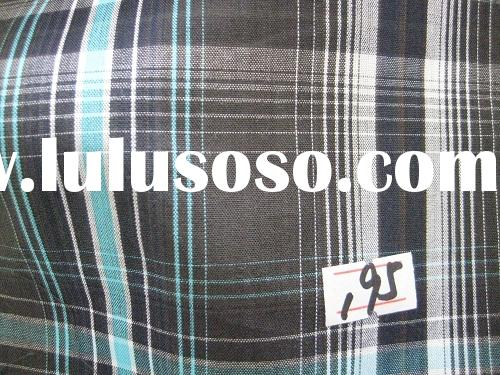 yarn dyed check cotton stock fabric