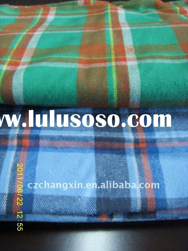 yarn dyed flannel fabric