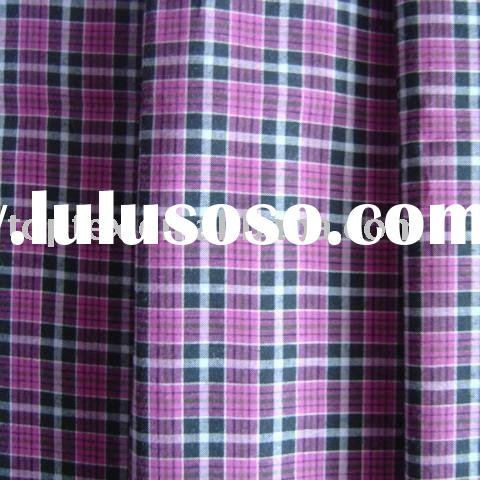 yarn dyed poplin/check shirting fabric/cotton poplin