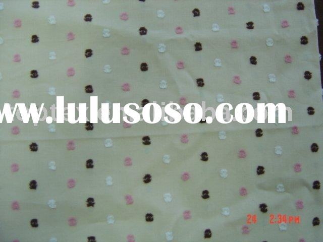 100% COTTON YARN DYED SWISS DOT FABRIC FOR SPRING OR SUMMER CLOTHES