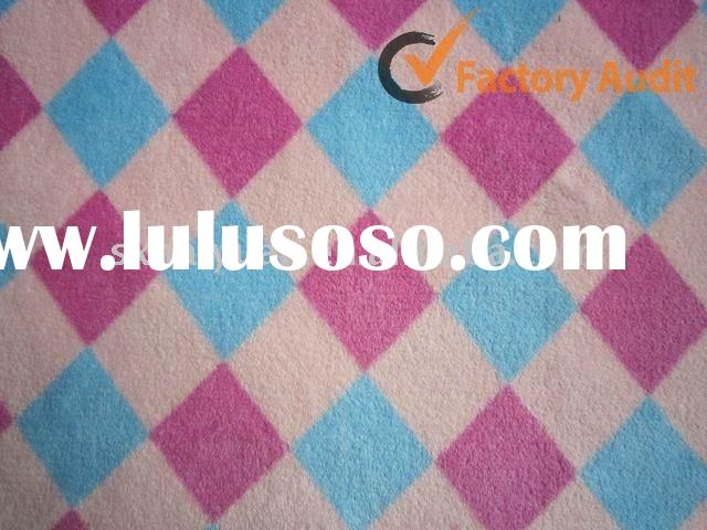 100% brushed printed polyester blanket coral fleece fabric