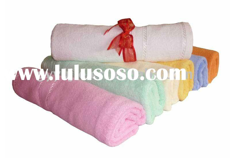 100% cotton hotel face towel with border