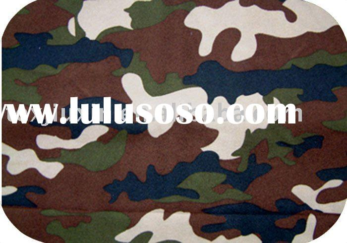 100% polyester camouflage fabric for PVC coated tent