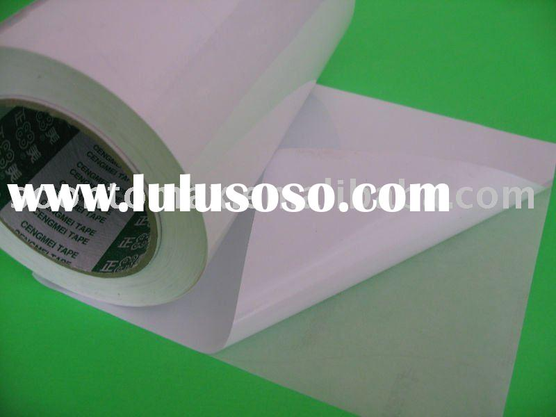 100micron white PVC adhesive paper roll for label printing