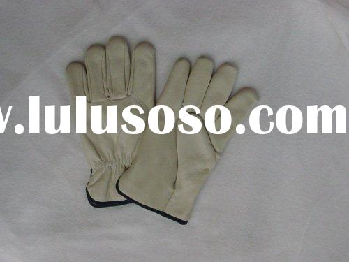 """10.5"""" cow grain leather driver gloves"""