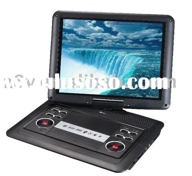 14.1 inch Portable DVD Player with USB/Card Reader/TV/Game
