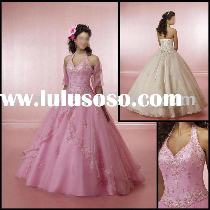 2009 Top Sell Applique Beading Prom Dress -- FH028