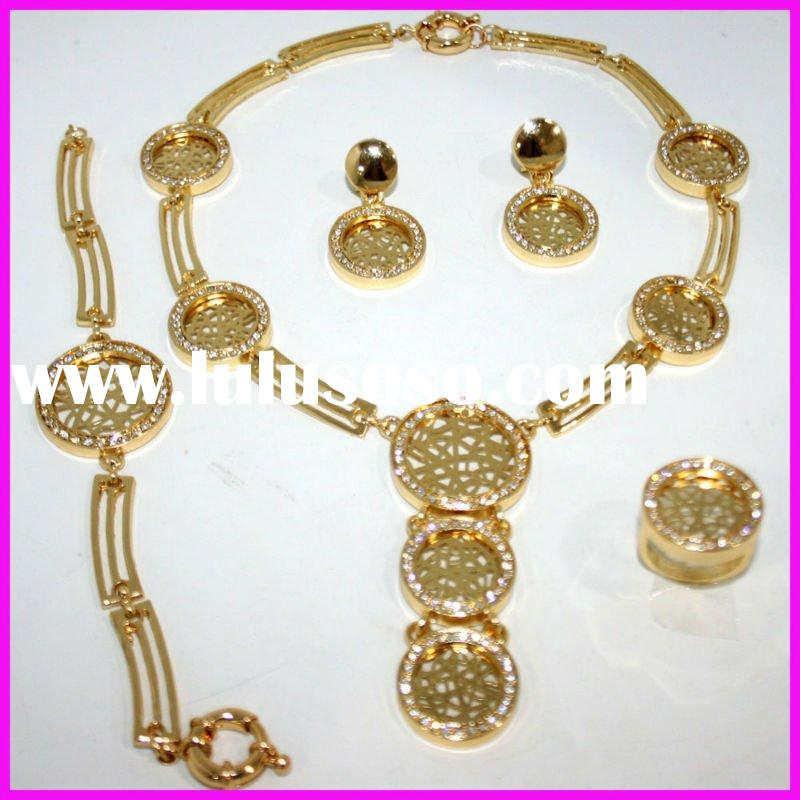 2011 FH-FS449 Gold Plating African Fashion Jewelry set