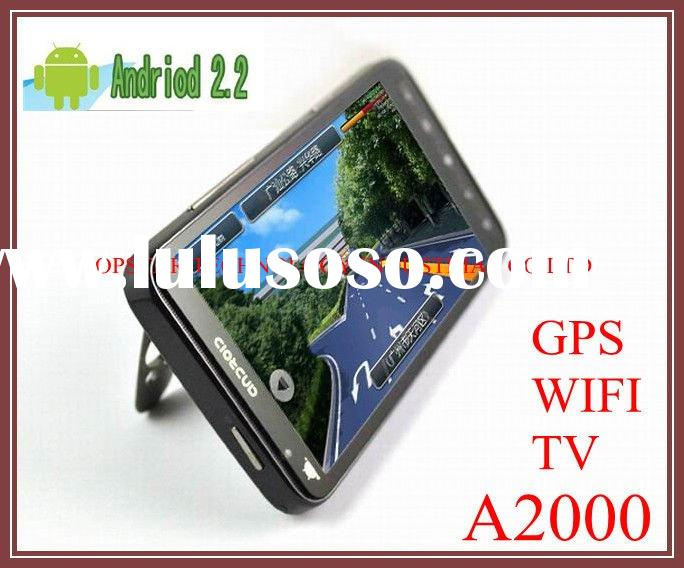 2011 Hot 4.3 inch touch HD screen Real GPS Unlocked phones Android (2.2) phone,smart mobile phone A2