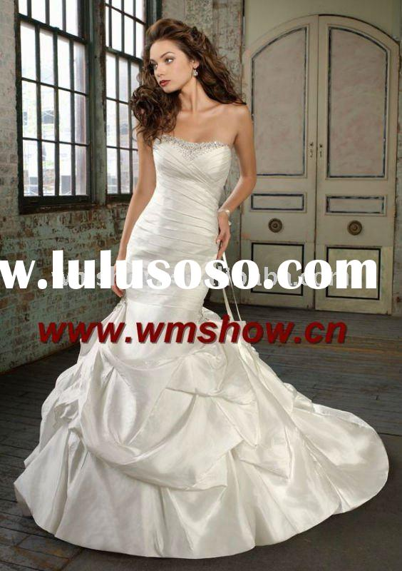 2011 Latest Modern Beautiful Strapless Mermaid Guangzhou Wedding Dress