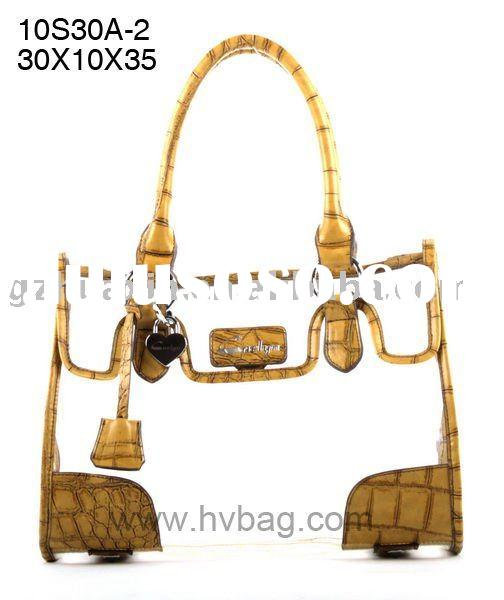2011 NEW PVC plastic transparent handbag