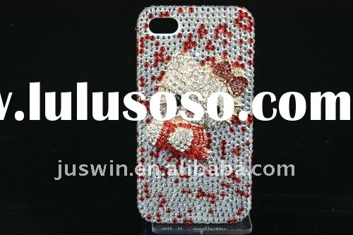 2011 New arrived factory price bling crystal diamond Rhinestone hard plastic case for iPhone 4 4G 4S