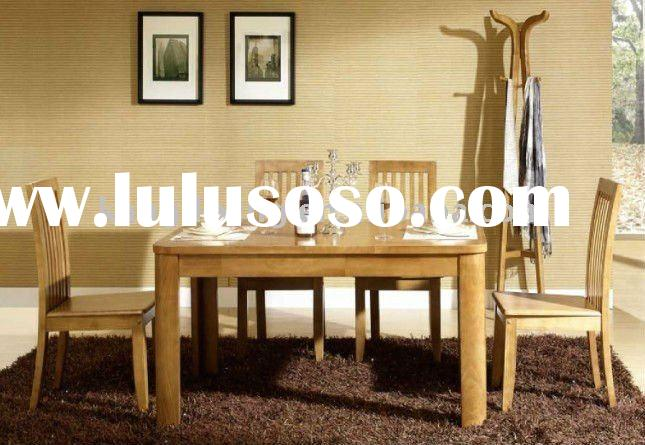 2011 New design rectangle solid wood dining table