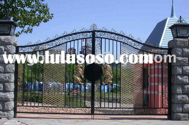 2011 Top-selling wrought iron house gate design for home,park,garden