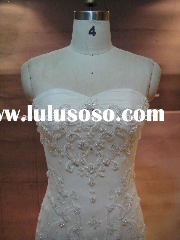 2011 latest real samples lace bridal wedding dress