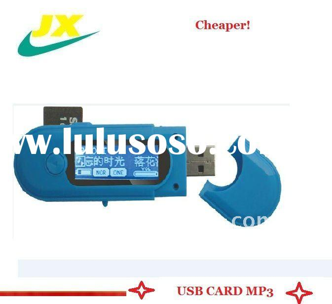 2011 new and mini protable usb mp3/card mp3 player