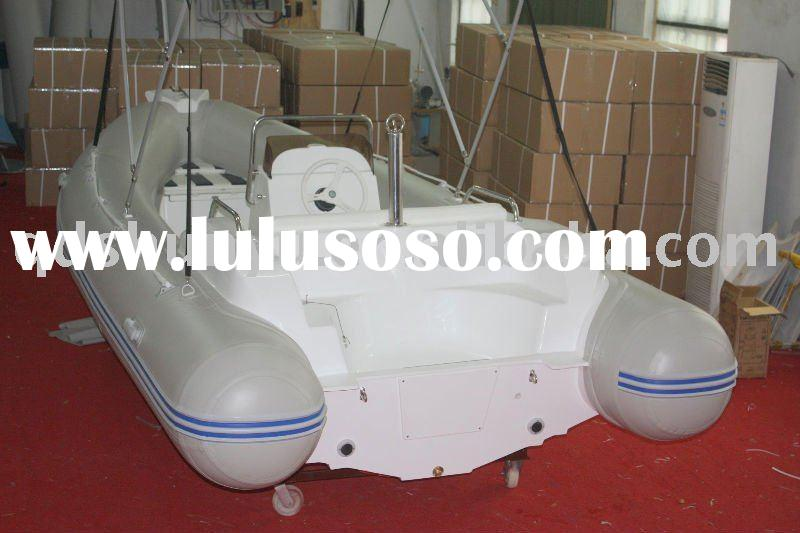 2011hot!!! (CE)pvc or hypalon material best fiberglass rib boat with cabin