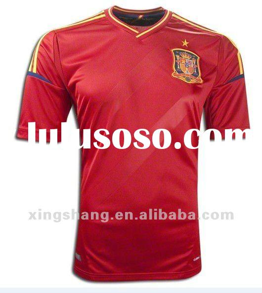 2012-2013 Euro cup Spain home soccer jersey