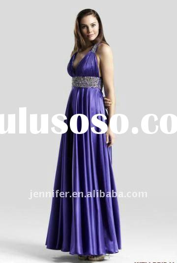 2012 New Arrival Sweetheart A-line Sleeveless Floor-Length Pleated Satin Bridesmaid Dress Patterns (