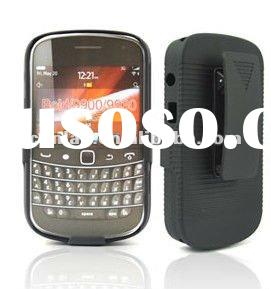 2012 New style rubberized Holster combo mobile phone case with belt for blackberry 9900