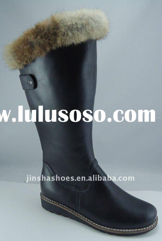 2012 new collection genuine leather winter boots for women