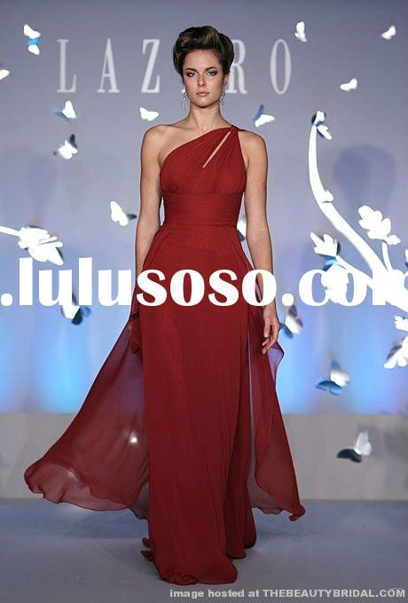 2012 red one-shoulder brand bridesmaid dress DC-LZB001
