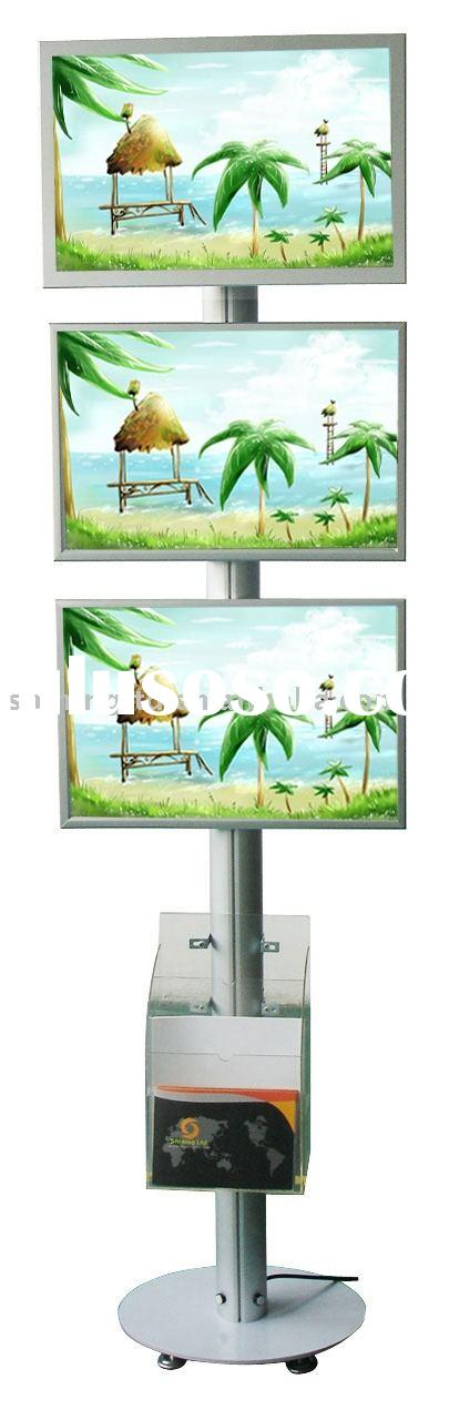 22 inch advertising equipment (lcd screen and led light box combination)