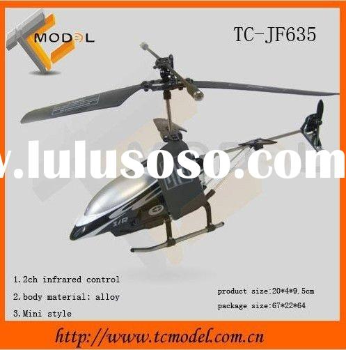 2 channel mini black bird infrared RC helicopter toy with gyro&LED lights