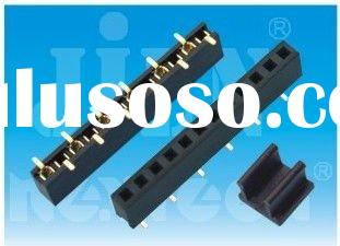 2 pin female header with single row smt type plastic tube connector