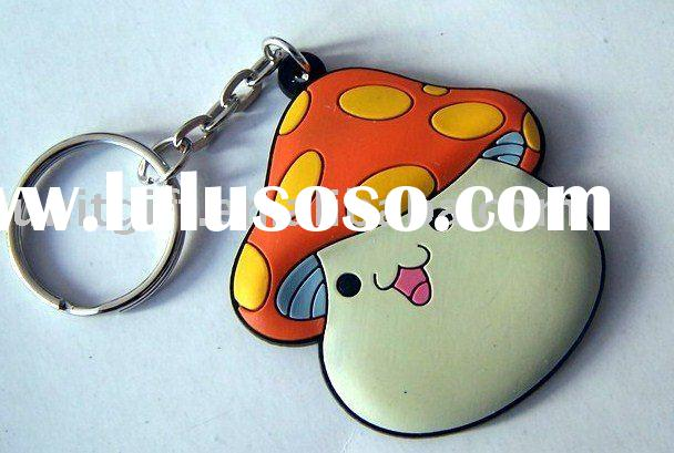 3D Embossing Soft Rubber mobile strap with keychain and screen cleaner