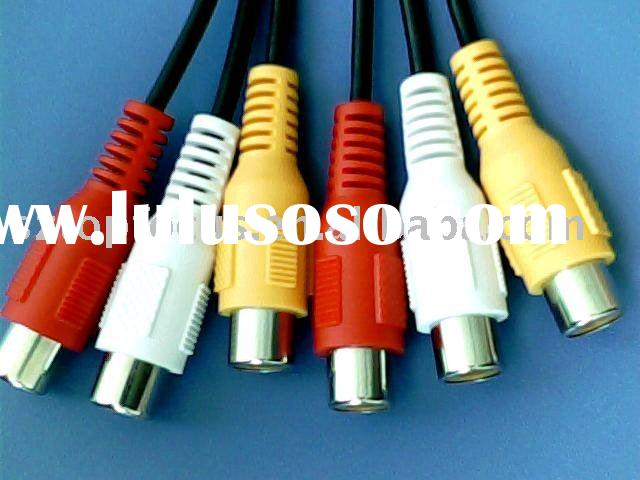 3RCA FEMALE TO 3RCA FEMALE AUDIO/VIDEO INTERFACE CONNECTOR WIRE CABLE