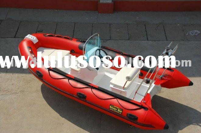 4.3m RIB boat rigid inflatable boat in red