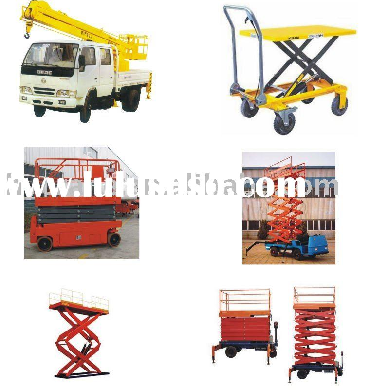 4 wheels Electric Hydraulic Aerial Scissor Lift