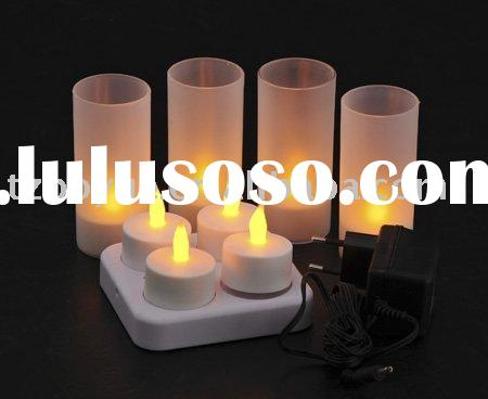 4cups led rechargeable candle light