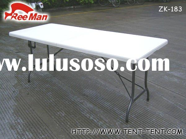 5ft outdoor plastic folding picnic table