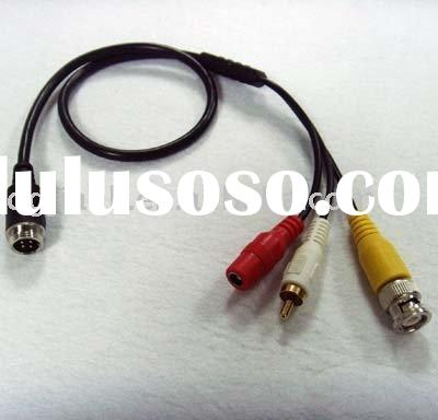 6meters video power cable with aviation plug(waterproof) for car rear view camera