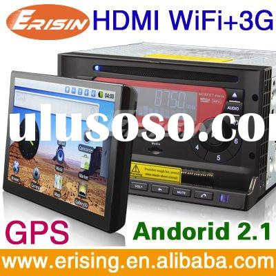 """7"""" 2-DIN All in one Car Multimedia System: Car DVD Player + WiFi 3G GPS Android Tablet"""