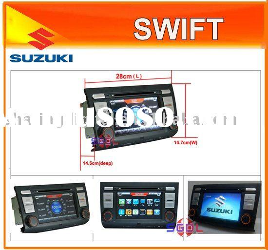 "7"" 2 din autoradio car dvd players with gps for SUZUKI SWIFT"