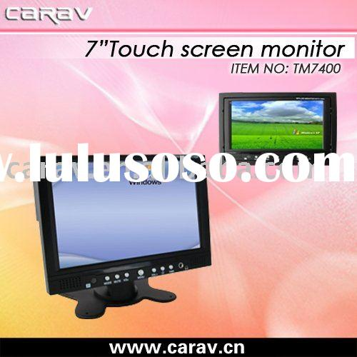 7 inch diagonal TFT car vga lcd touch screen monitor/Touch display,with Rear view camera,buil-in spe