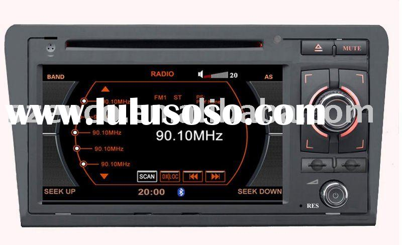 7inch car dvd player special for AUDI A3 with DVD, GPS, RDS, Bluetooth, steering wheel control,SD,US